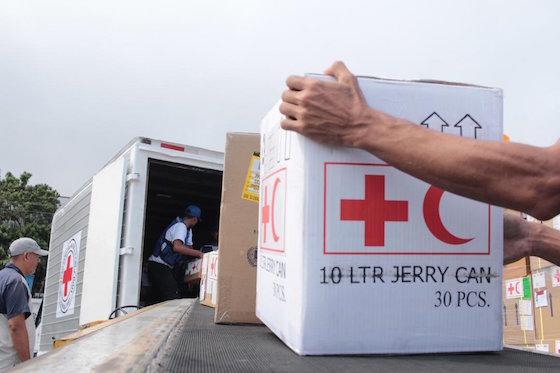 Ayuda humanitaria en Maiquetía