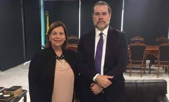 Embajadora María Teresa Belandria se reunió con la máxima autoridad judicial de Brasil