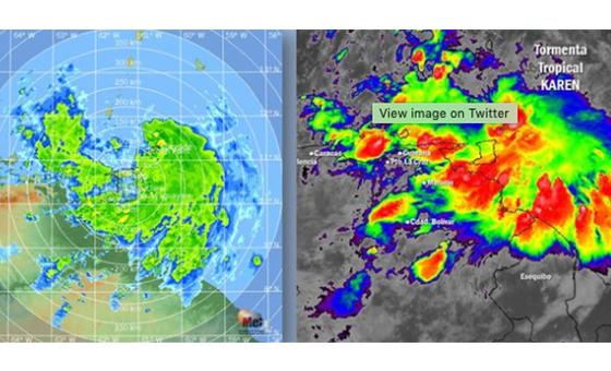 Tormenta tropical Karen afecta zonas del norte y oeste de Venezuela