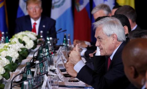Sebastián Piñera: Tenemos que hacerle la vida difícil a todos los jerarcas de Venezuela