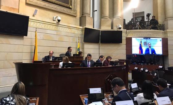 Diputados de la AN en el exilio sesionaron en el Congreso de Colombia por la crisis venezolana
