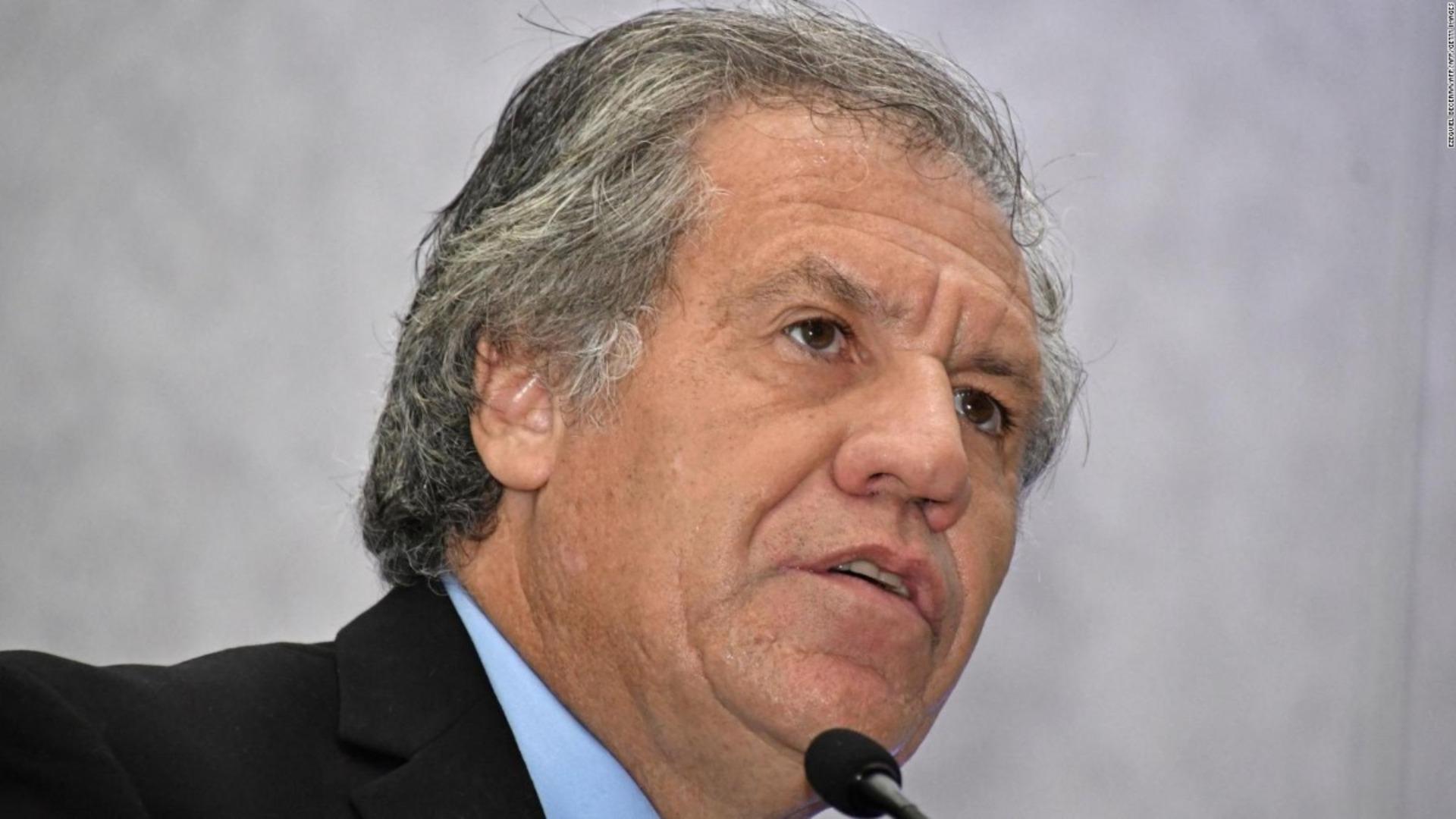 Almagro denuncia estado de presos políticos en Venezuela y pide defender la democracia