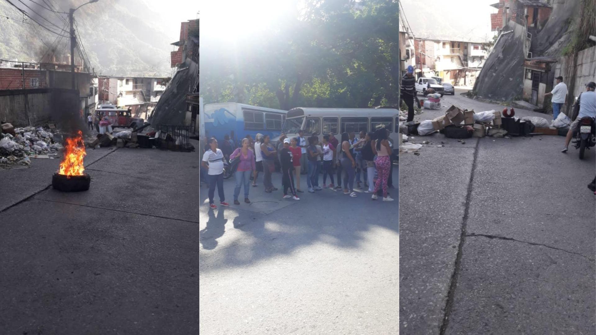 Habitantes del barrio José Félix Ribas de Petare protestan contra abuso de las FAES