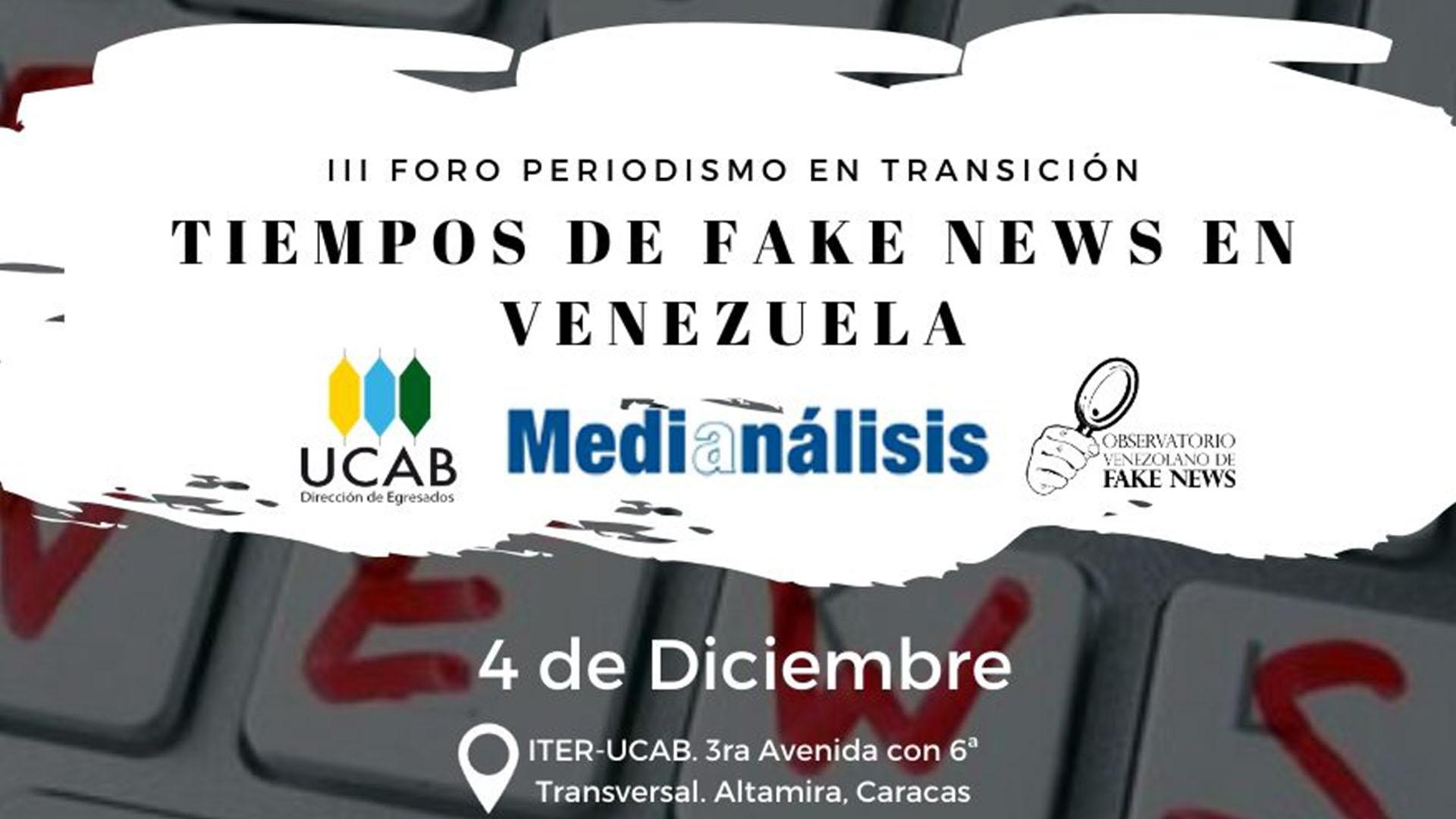 Observatorio Venezolano de Fake News ofrecerá antídoto anti falsedades el próximo 4-D