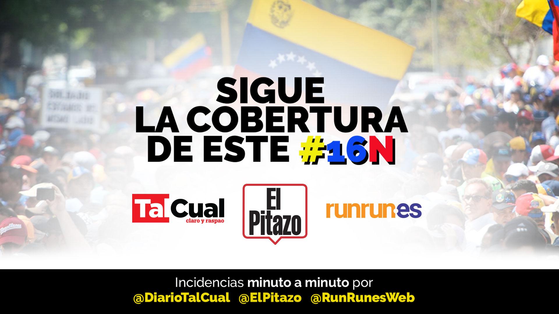 Minuto a Minuto: Así transcurre la marcha de la oposición este #16N