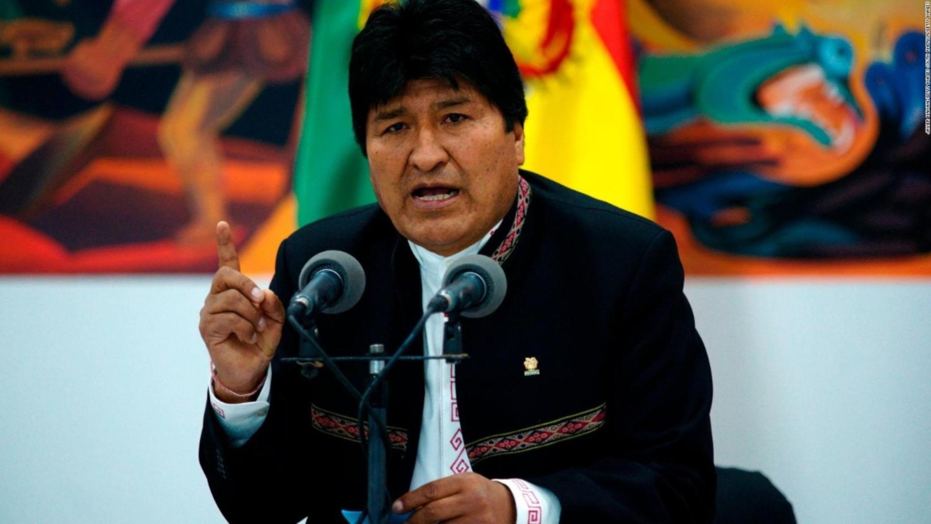 Evo Morales denuncia que existe una orden de captura en su contra