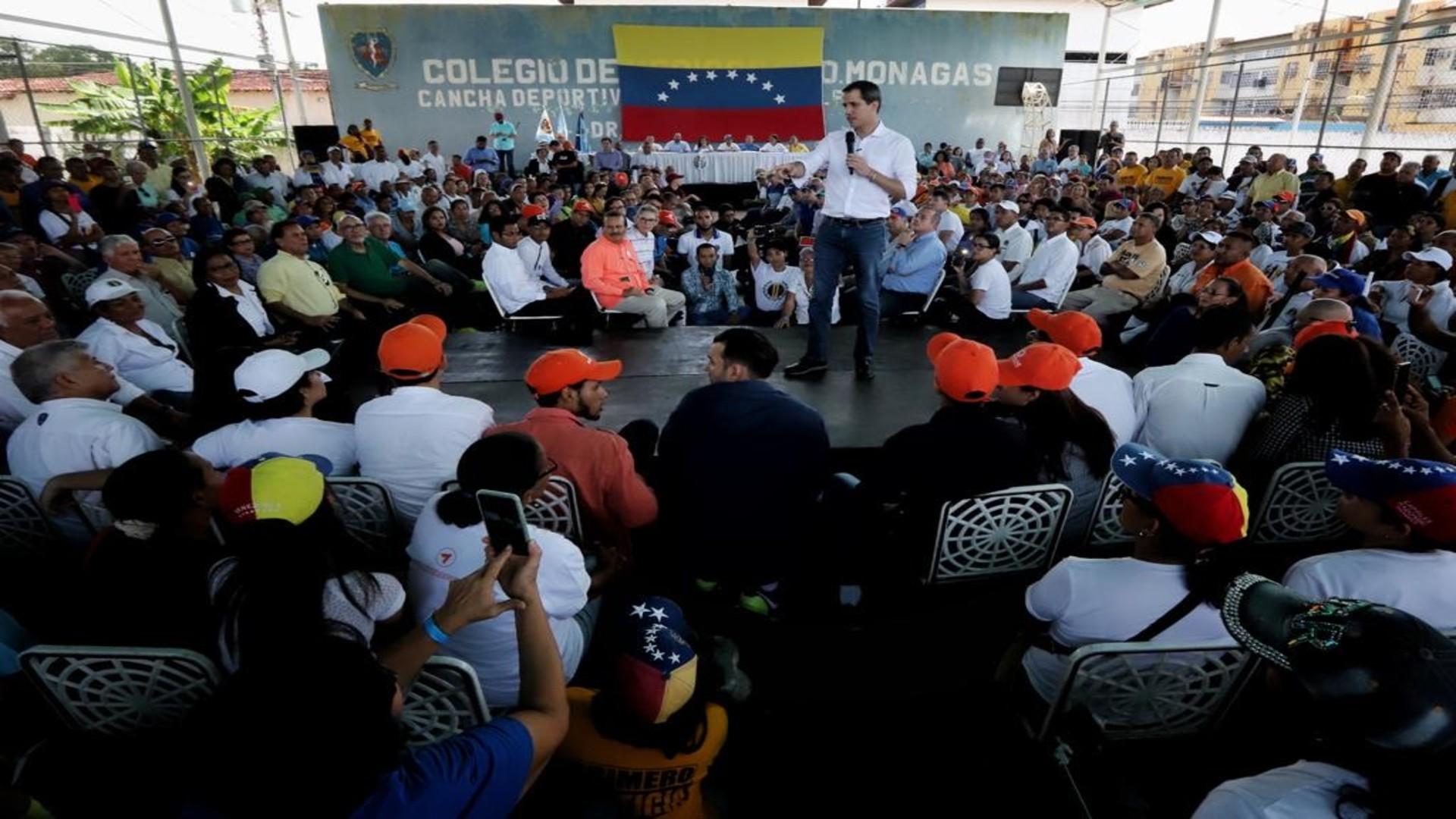 """Guaidó asegura que en la ruta se mantiene el tener elecciones """"realmente libres"""""""