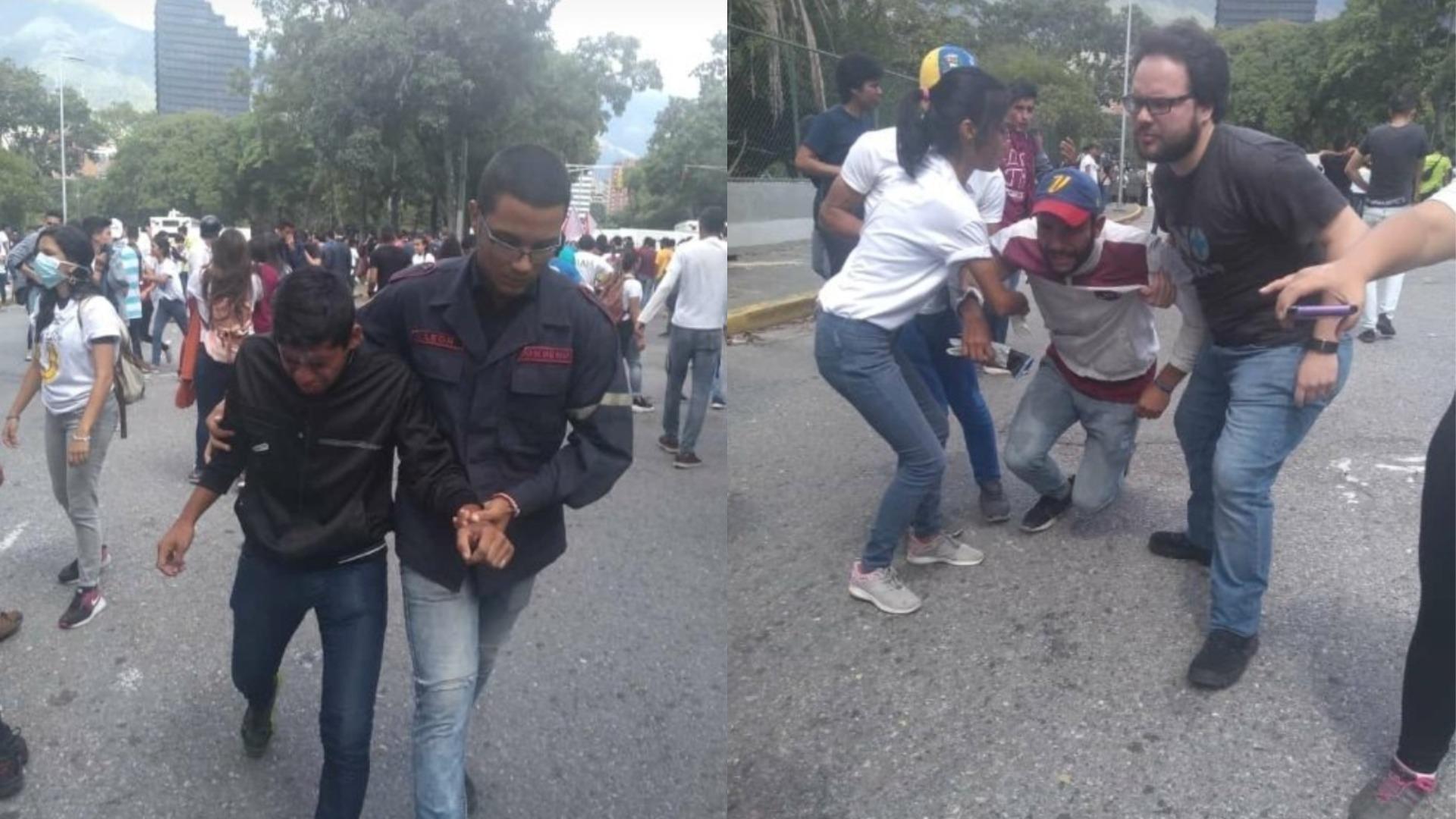 PNB reprime estudiantes de la UCV tras asamblea en la que participó Guaidó