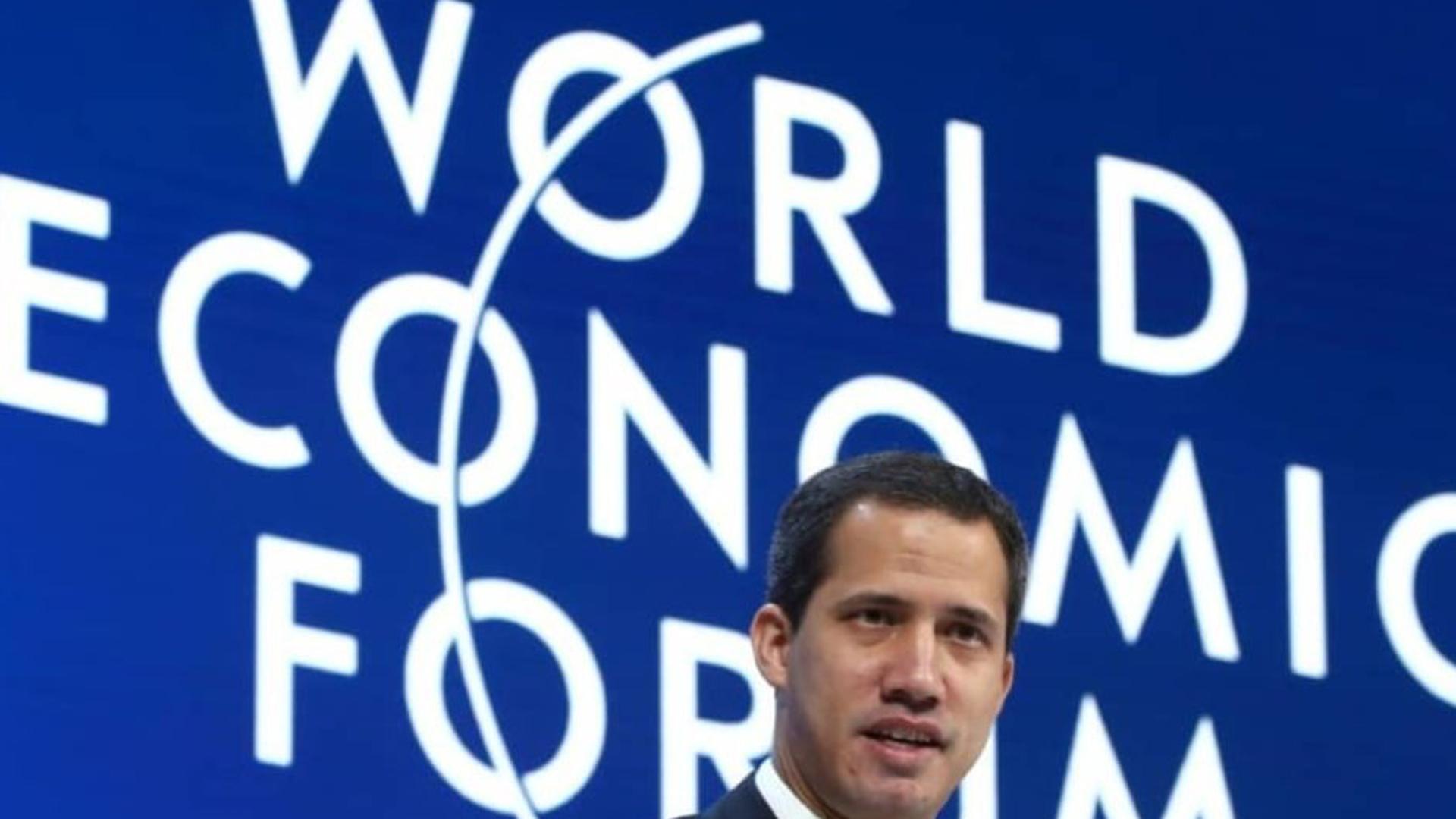 Guaidó descarta en Davos nuevas negociaciones con gobierno de Maduro