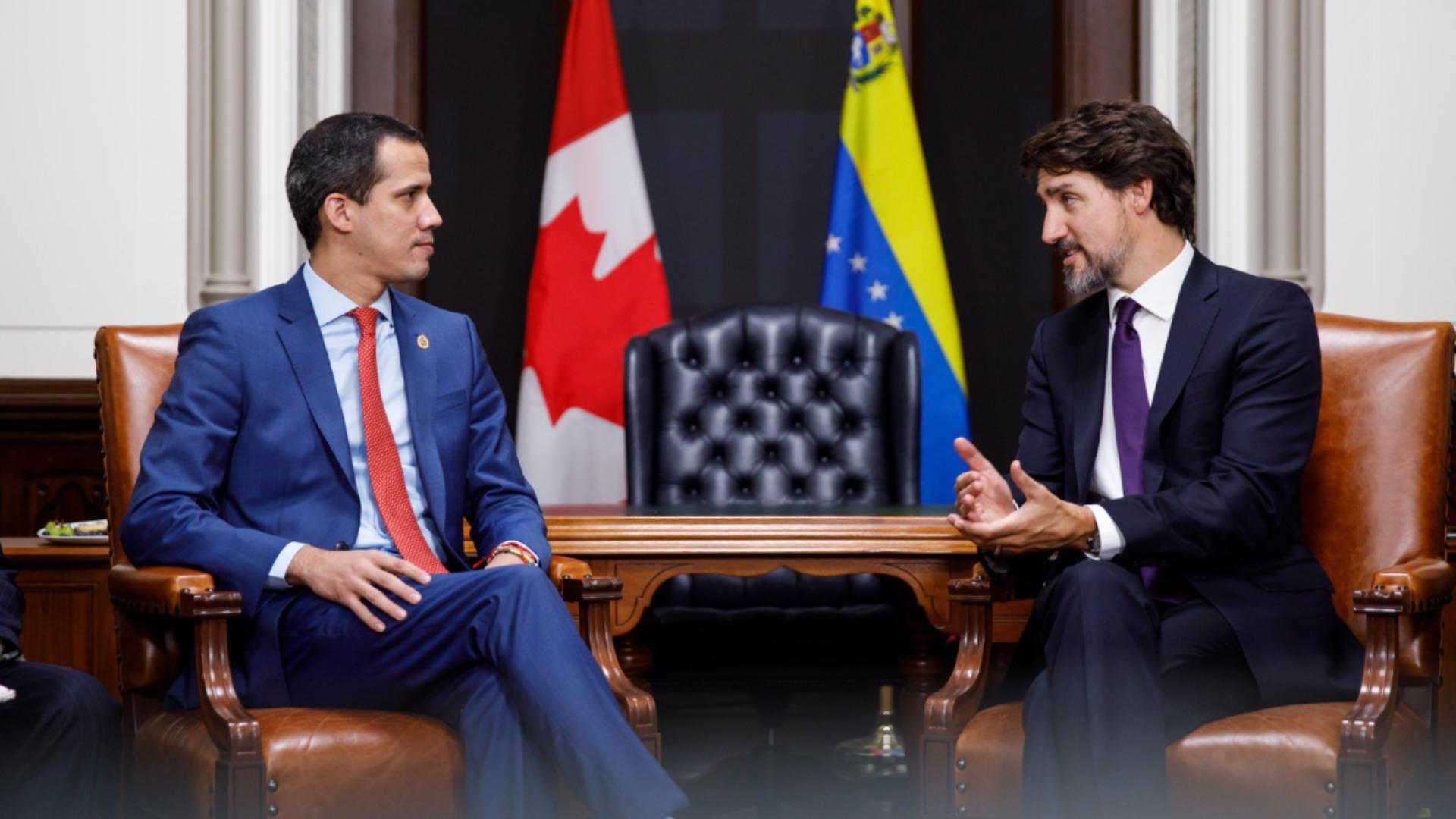 Trudeau elogia a Guaidó por el liderazgo en su lucha por la democracia en Venezuela