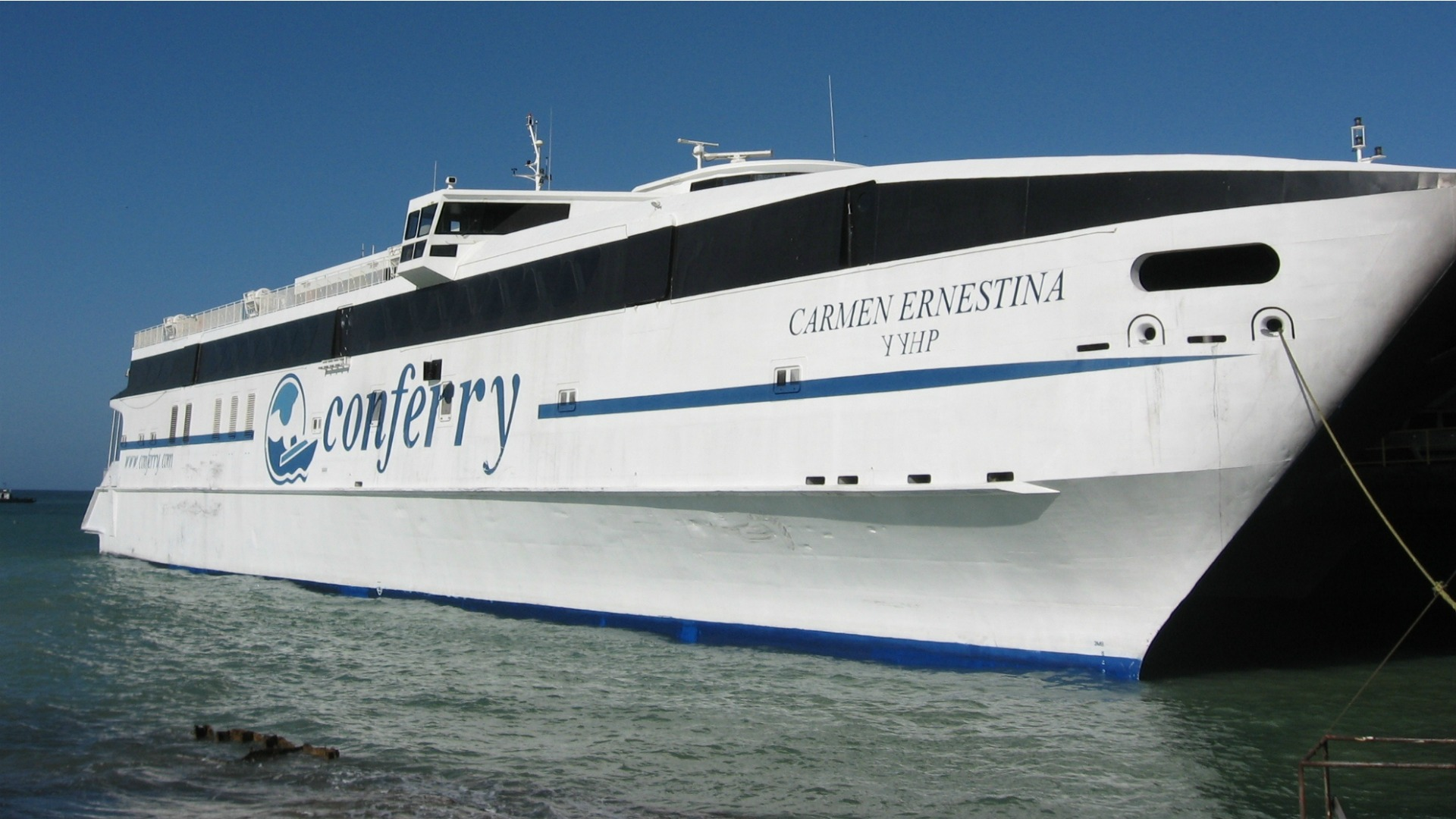 Denuncian que un ferry se quedó a la deriva en altamar tras zarpar de Punta de Piedras