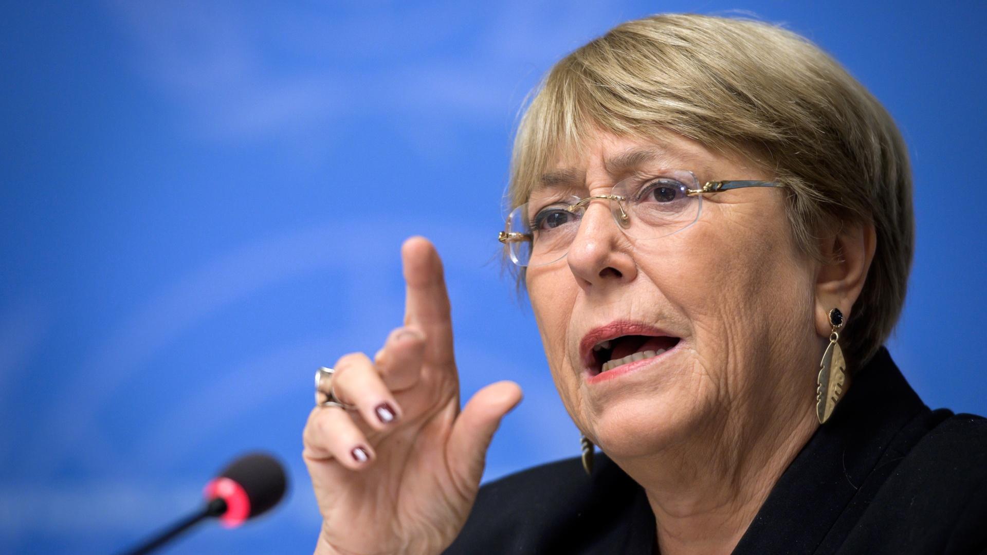 Bachelet pide flexibilizar sanciones a cambio de transparencia y permitir la entrada de organizaciones internacionales