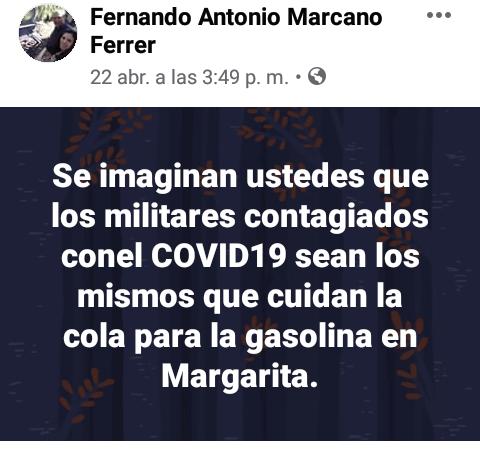 Conas detuvo en Margarita a un profesor que publicó en Facebook mensajes contra el gobierno 3