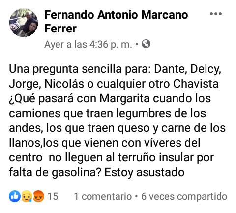 Conas detuvo en Margarita a un profesor que publicó en Facebook mensajes contra el gobierno 4